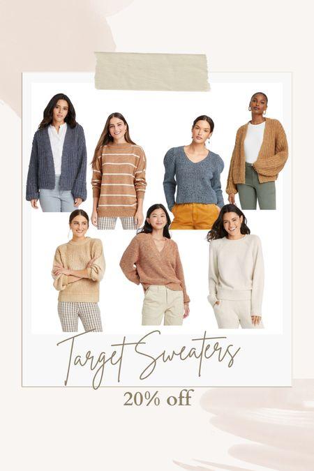 Fall neutral sweaters 20% off  #LTKSeasonal #LTKsalealert #LTKunder50