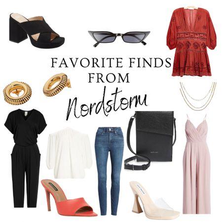 Nordstrom, 50% off, jumpsuits, summer dress, heels, crossbody, accessories, earrings, jeans, necklace, outfit  #LTKDay #LTKsalealert #LTKstyletip