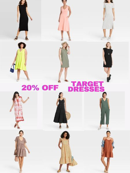 20% off select dresses, rompers, and jumpsuits at Target! All styles come in a variety of colors and patterns. Hurry because sizes sell out! @liketoknow.it #liketkit #LTKunder50 #LTKsalealert http://liketk.it/3gWtz