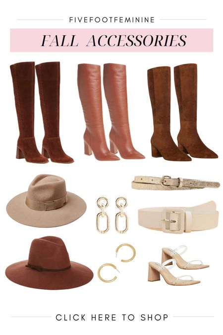 Fall accessories to complete all your fall outfits! Tags: fall boots, suede boots, brown boots, felt hat, fall hat, tall boots   #LTKstyletip #LTKSeasonal #LTKshoecrush