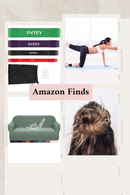 Favorite at home fitness accessories, French hair pins (so comfortable)  Waterproof couch covers (kids friendly)   #LTKhome #LTKfamily #LTKfit