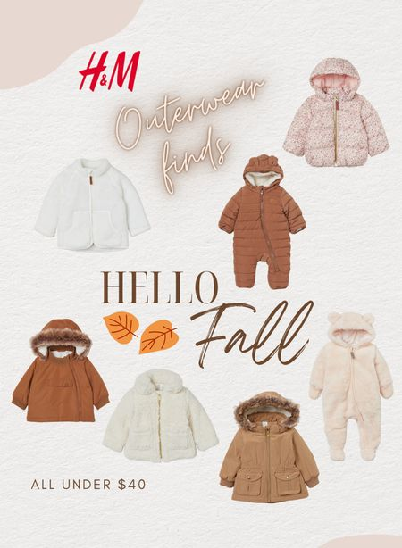 H&M outerwear finds for baby and toddler all under $40🙌🏼  #LTKkids #LTKbaby #LTKSeasonal