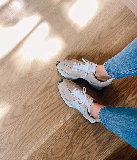 New Balance Tennis Shoes, Tan Sneakers, Men's Sizes (size down 1.5 sizes)