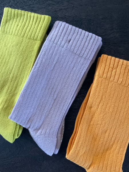 Cozy cotton socks in line green, orange and purple.   #LTKunder50 #LTKstyletip #LTKGiftGuide