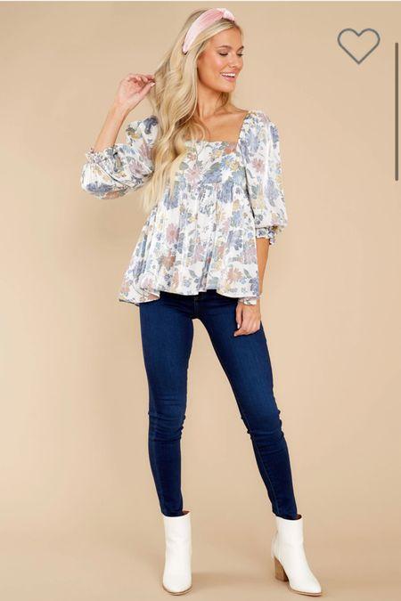 Floral top  #LTKsalealert #LTKunder50 #LTKstyletip