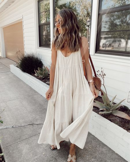 Linen tiered dress, a favorite from last summer season //   #LTKstyletip