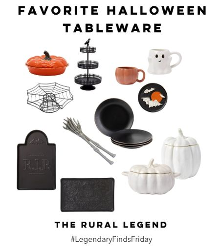 Whether you're hosting a Halloween party or you're just looking for a few special pieces to make your meals more special this month, I've got you covered with these terrifying tableware pieces!   #LTKHoliday #LTKunder50 #LTKhome