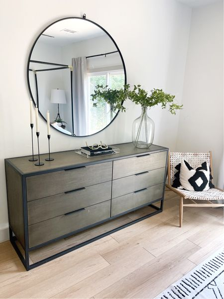 """New mirror is up! It's 48"""" round and perfect over the dresser.   #LTKsalealert #LTKhome #LTKSale"""