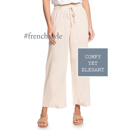 The white pants for spring: comfortable yet elegant for whatever life throws at you.  #frenchstyle  #LTKstyletip #LTKeurope @liketoknow.it.europe http://liketk.it/35L0j #liketkit @liketoknow.it #LTKworkwear