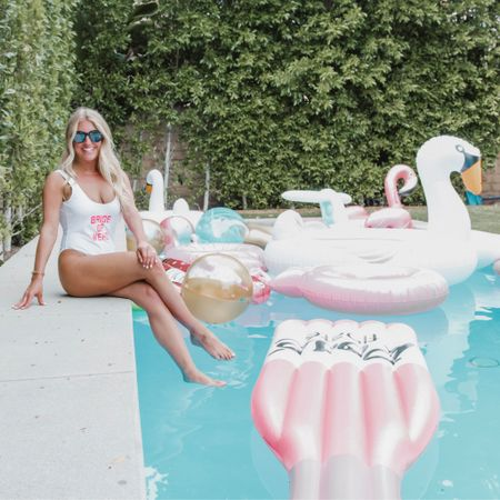 Dreaming of better times like sitting by the pool with rosé & swan pool floats during my bachelorette last year. http://liketk.it/2MyK3 @liketoknow.it #liketkit #StayHomeWithLTK #LTKwedding #LTKunder50