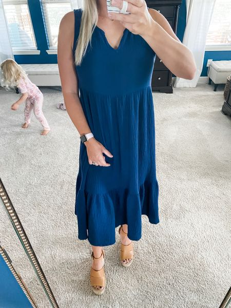 Nothing like a comfy little dress and a crazy kid to complement it! 🤪 This dress is super comfy and flattering. A perfect throw-it-on and go number.   #LTKSeasonal #LTKunder100 #LTKwedding