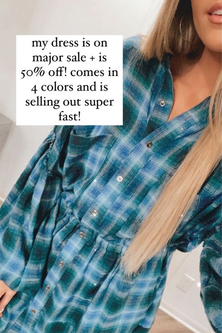 50% off free people plaid dress - sale alert #LTKDay #LTKsalealert #LTKstyletip  http://liketk.it/3gANh @liketoknow.it #liketkit