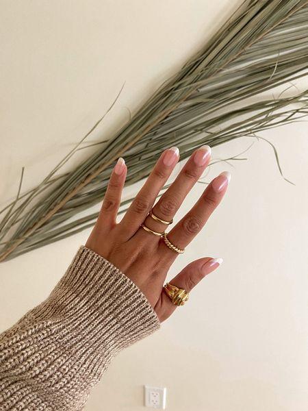 Gold stacking rings  #LTKsalealert #LTKunder100 #LTKunder50