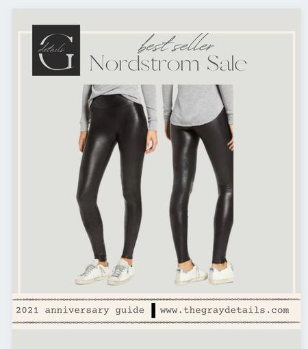Best selling spanx faux leather legging on major sale / nsale / Nordstrom anniversary sale / Nordstrom sale / casual outfits   #LTKtravel #LTKunder100 #LTKstyletip