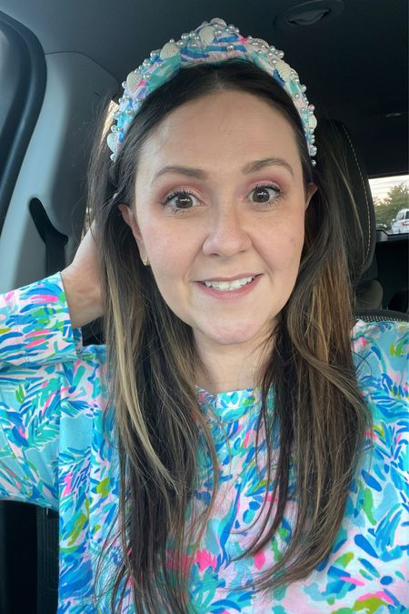 All the Lilly Pulitzer (including this cute Lele Sadoughi knot headband) and my new Kendra Scott open hearts earrings (gifted)💕  I'm linking my 2 other new Kendra Scott pieces, and my new favorite fall eyeshadow palette! Perfect for a pretty pink eye makeup look.  #LTKbeauty #LTKunder100