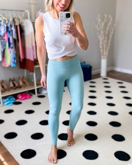 Athleisure look  Workout set in size small - paired the leggings with a different top than the one that comes in the set - love how the pieces are mix and match and you can create multiple outfits from the set   Cropped top in XS- so soft and comfy - I loved so much I went back and got two more colors       Athleisure , workout look , leggings, workout tank , workout set , athletic look , loungewear , seamless leggings , amazon fashion , amazon finds , alo yoga , yoga clothes , Nordstrom , #nsale , over 30 , over 40 http://liketk.it/3jZiH #liketkit @liketoknow.it #LTKfit #LTKunder50 #LTKsalealert