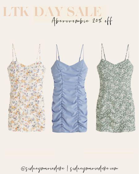 Abercrombie mini summer dresses on sale for LTK day Wedding guest dress vacation dress  Floral ruched dress  Recruitment dress   @liketoknow.it http://liketk.it/3hjpU #liketkit #LTKunder100 #LTKsalealert #LTKDay
