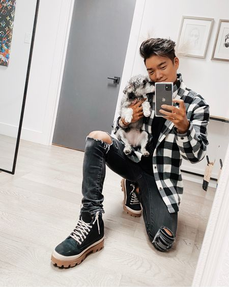 Back to Black... & white, & buffalo check. 🏁🐾 ___ Follow me on the LIKEtoKNOW.it shopping app to get the product details for this post and more!  http://liketk.it/37GDE #liketkit @liketoknow.it #StayHomeWithLTK #LTKmens #LTKsalealert #menswear #mensoutfit #ootdmen #guyswithstyle