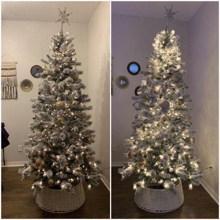 Decorating our Christmas tree from Michael's with a Target tree collar http://liketk.it/31x9B #liketkit @liketoknow.it #LTKhome