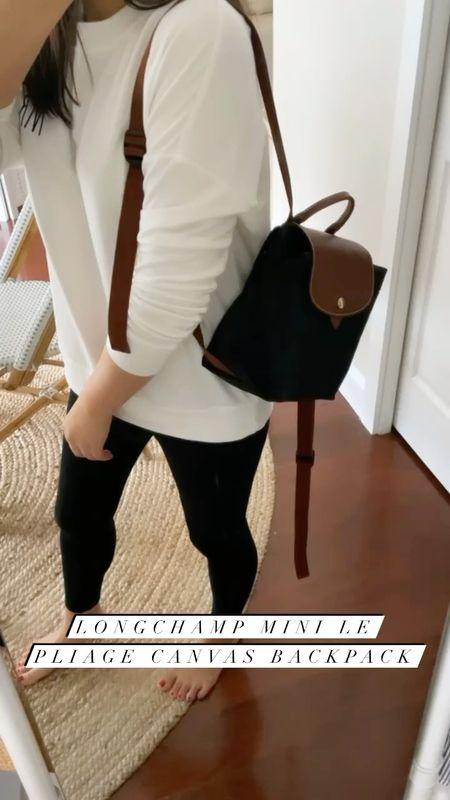 "Longchamp mini le pliage canvas backpack from the #nsale. I'm 5' 2.5"".   #LTKunder100 #LTKsalealert #LTKitbag"