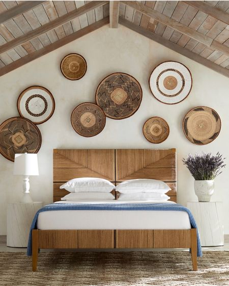 Beautiful baskets as wall art - looks perfect over a bed #liketkit @liketoknow.it http://liketk.it/3k2N2   #LTKhome #LTKstyletip #LTKunder100