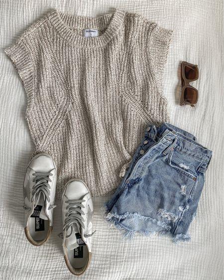 Love this sweater tank and denim shorts for transitioning to fall! http://liketk.it/3kj6q @liketoknow.it #liketkit