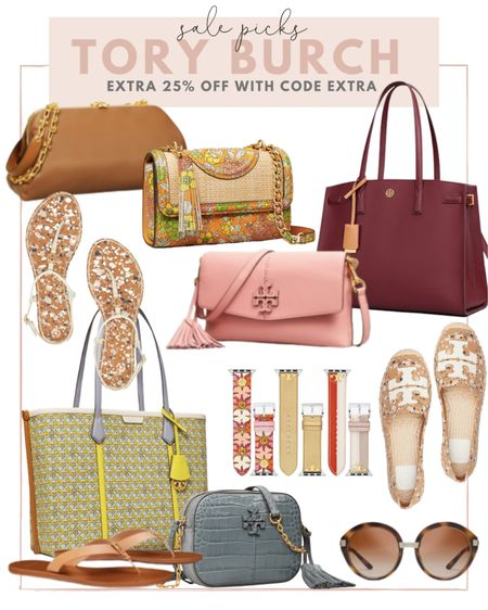 Tory Burch is having their semi annual sale! Take an extra 25% off with code EXTRA! Rounded up a few of my favorites for you! http://liketk.it/3hWqK #liketkit @liketoknow.it