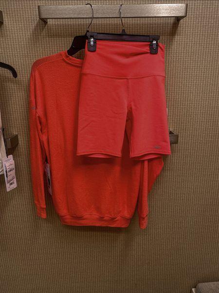 Alo yoga Workout set Biker shorts Pink NSale Nordstrom  Gym Athleisure  Athletic   #LTKSeasonal #LTKunder100 #LTKsalealert