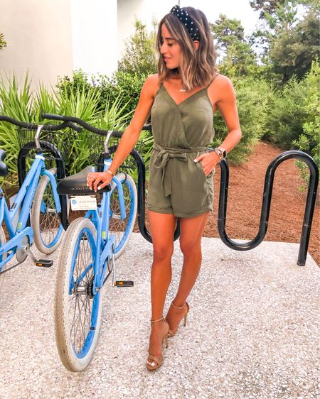 Green utility romper is on sale for $23. Comes in other colors and is true to size   http://liketk.it/2EPLU #liketkit @liketoknow.it #LTKunder50 #LTKunder100 #LTKsalealert #LTKshoecrush #LTKstyletip