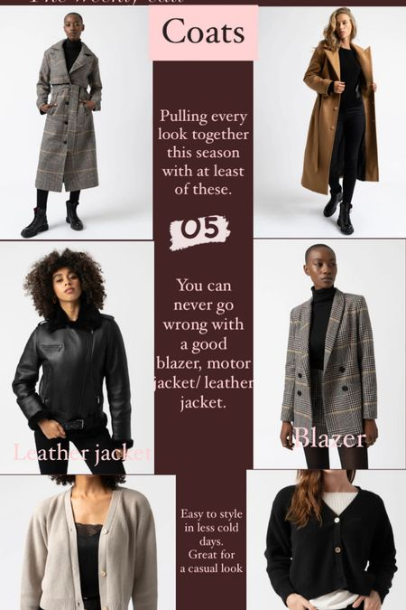 Jackets, coats, blazers and cardigans for best coverage and stylish look perfect for autumn/winter season.  #LTKeurope #LTKunder50 #LTKstyletip