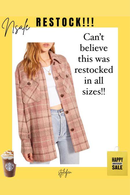 Bb Dakota plaid shirt jacket shacket restocked!!    #LTKsalealert #LTKstyletip #LTKunder100