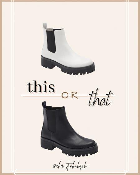 This or that - Chelsea boots  Black or white?    #LTKshoecrush #LTKunder100 #LTKSeasonal