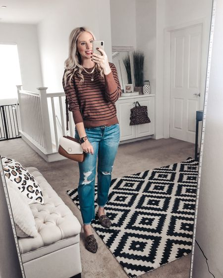 Loving these new brands at Walmart! Get this great striped sweater for only $22! ❤️ and look at that colorblock crossbody! M sweater   http://liketk.it/2Xsba #liketkit @liketoknow.it #LTKsalealert #LTKunder50 #LTKitbag