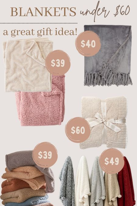 Blankets under $60! Great gift ideas!   #LTKGiftGuide