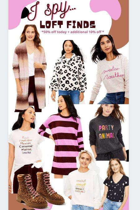 Fall sweatshirt Sweaters Cardigans Stripes, Ombre, animal print  #loft   #LTKsalealert #LTKHoliday #LTKSeasonal