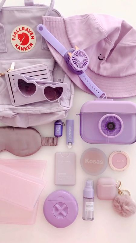 What's In My Travel Bag - purple edition.   #LTKtravel #LTKunder50 #LTKbeauty