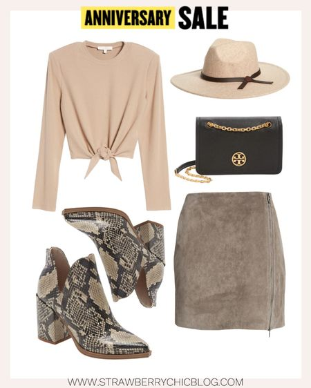 Suede mini skirt and snake skin boots from the Nordstrom Anniversary Sale. This skirt is one of my favorite purchases from a past sale.   #LTKsalealert #LTKitbag #LTKstyletip