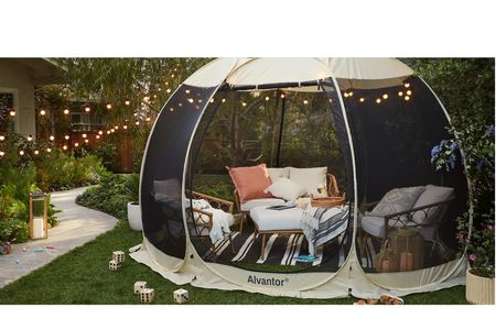 Get ready for outdoor fun! Pop Up Portable Gazebo Screen Tent from Target!    Patio deck patio set patio furniture lounge chair Adirondack chair outdoor rug outdoor heater fire pit backyard outdoor summer   #LTKhome #LTKfamily #LTKSeasonal