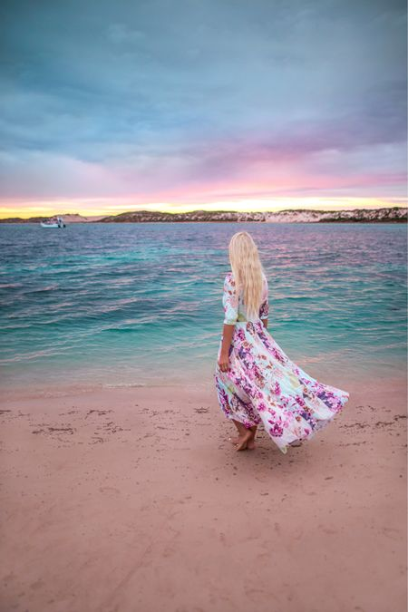 Ningaloo sunsets are magic 💕  love this maxi dress that can also be worn as a cape or swim cover 🙏   #LTKunder100 #LTKaustralia #LTKstyletip