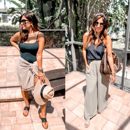 """1, 2, 3, or 4? I got some new #amazon pieces in last week and I honestly love them all! This sarong is definitely my new favorite and only $13...these wide leg pants AND the tie dye maxi are perfect for shorties like me (5'2"""") and all the new sunglasses are 💯!!! You guys sold out the polarized ones when I gave a quick look at them over the weekend but some colors and have been restocked! #springfashion#summerstyle#amazonfashion#amazonfinds  • •  http://liketk.it/3dtdp #liketkit @liketoknow.it #LTKunder50 #LTKworkwear #LTKtravel @liketoknow.it.family @liketoknow.it.brasil"""