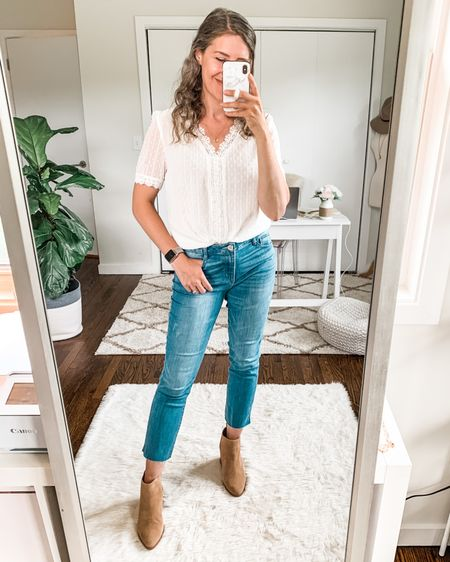 Ab-Solution hi rise raw hem slim jeans now $49 on sale during the #nsale Nordstrom Anniversary Sale! This is my favorite denim brand hands down because it features an elastic sewn inside the waist so these don't need a belt! Extremely comfortable. If you hate wearing jeans you'll love these! 😆💯🙌🏻 Fit TTS, I'm in a size 6. http://liketk.it/3kkJ1 #liketkit @liketoknow.it