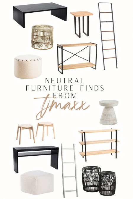itching to redecorate!! found so many good neutral furniture pieces at @tjmaxx that fit my home decor vibe! #homedecor #tjmaxx #neutraldecor #neutralfurniture  #LTKunder100 #LTKhome #LTKsalealert