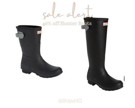 🚨 SALE ALERT 🚨 Currently 40% women's tall and short Hunter Boots. Never too early to start shopping for the holidays!   #LTKshoecrush #LTKsalealert #LTKunder100