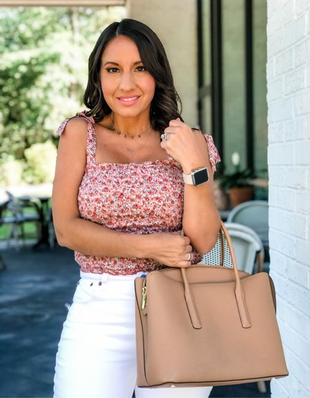 Abercrombie style finds  Abercrombie sale.  Floral cami top.  White jeans. They run tts and come in petite, tall, and regular size. Love them!!!   #LTKsalealert #LTKunder50 #LTKunder100