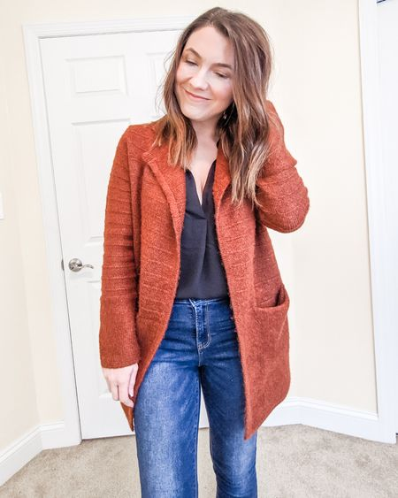 This sweater cardi is the perfect layering piece and so soft!   http://liketk.it/2JvXf @liketoknow.it #liketkit Shop your screenshot of this pic with the LIKEtoKNOW.it app and follow FigAndRoses 💋