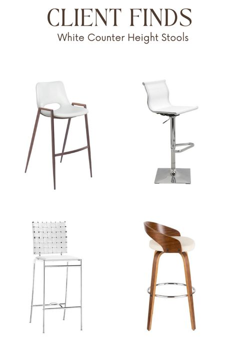Hi everyone, happy hump day! I've been sourcing counter stools all day and for some reason white is trending. Here are four finalists that got the most approvals today from some of my virtual clients. Which one is your favorite? Check them out.   #LTKstyletip #LTKhome #LTKfamily