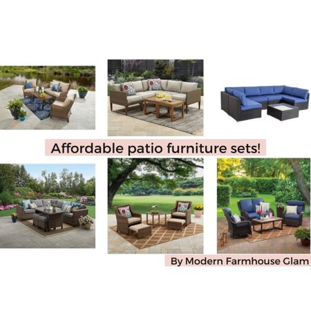 Affordable outdoor furniture, patio set, outdoor couch, outdoor dining, Walmart Better Homes & Gardens, backyard, summer, waterproof, wicker, a Modern Farmhouse Glam. http://liketk.it/3hZl3 #liketkit @liketoknow.it #LTKhome #LTKsalealert @liketoknow.it.home Download the LIKEtoKNOW.it shopping app to shop this pic via screenshot