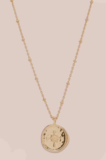 jewelry, gold necklace, pendant, accessories, coin necklace  http://liketk.it/3iIcN #liketkit @liketoknow.it #LTKunder100 #LTKstyletip #LTKwedding