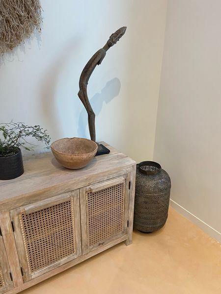 Boho home decor, cane furniture, home decor, living room decor, wall hang, media console  #LTKsalealert #LTKSeasonal #LTKhome