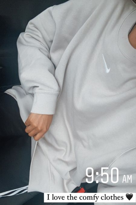 Nike oversized crew neck! I'm obsessed with this pullover it's so soft on the inside. Perfect with leggings for fall.   #LTKtravel #LTKSeasonal #LTKGiftGuide